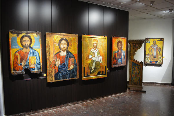 icons at the archaeological museum of nesebar