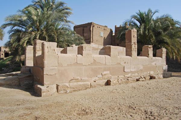 Tod (Tuphium) - Temple of Montu - barque shrine     Mohamed Kenawi/Manar al-Athar